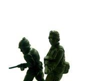 14位战士玩具 免版税库存图片