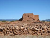 14多孔黏土有历史的l nat nm公园pecos废墟 库存图片