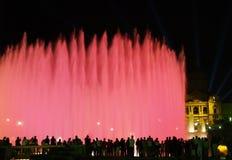 14巴塞罗那montjuic喷泉的魔术 免版税库存图片
