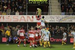 14比亚利兹法国橄榄球顶层usap与 免版税库存图片