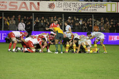 14比亚利兹法国橄榄球顶层usap与 库存图片