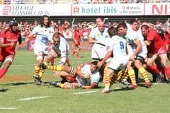 14符合橄榄球stade顶层toulousain usap与 库存照片