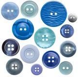 14蓝色按钮收集高查出的res 免版税库存图片