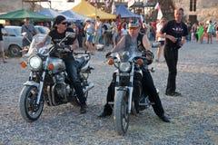 14辆自行车国际moto显示Th 免版税库存图片