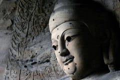 14雕刻的石yungang 免版税库存图片