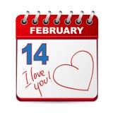 14 Φεβρουαρίου διανυσματική απεικόνιση