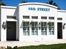 14-ая общественная улица уборного Стоковые Изображения