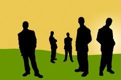 14 бизнесмены теней Стоковое Изображение