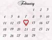 14-ое февраля Стоковое Фото