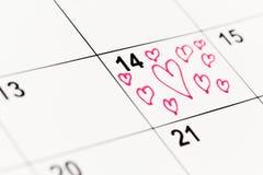 14-ое февраля Стоковое фото RF