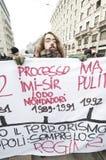 14 студент милана демонстрации 2010 -го в декабре Стоковые Изображения