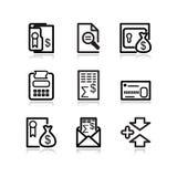 14 черных иконы установили сеть Стоковые Изображения