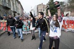 14 12月2010日演示米兰学员 免版税库存图片