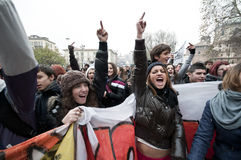 14 12月2010日演示米兰学员 库存图片