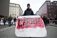 14 12月2010日演示米兰学员 图库摄影