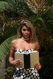 性感的深色的妇女14 免版税库存照片