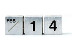 14 cubes fév. Images libres de droits