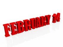 14 de febrero Foto de archivo