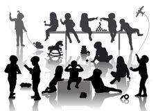 14 enfants Images libres de droits