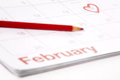14 février Photos libres de droits