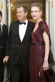 14 février 2008 : Natalia Vodianova et essai de Mario Image libre de droits