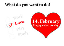 14 février Photo libre de droits