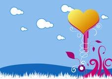 14. Februar feiern Karte Lizenzfreies Stockfoto
