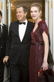 14 FEBRUARI 2008: Natalia Vodianova en Mario Test Royalty-vrije Stock Afbeelding