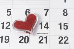 14 februari de Dag van de Valentijnskaart Stock Afbeeldingen