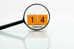 On 14 February. On February 14 with a mirror placed on the area Stock Images