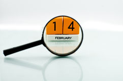 On 14 February. On February 14 with a mirror placed on the area Royalty Free Stock Images
