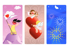 14 February-Illustration-vector banners. Vector scene, illustration, banners vertical,14 february,valentin day,love and friends,san valentin day,illustration Royalty Free Stock Photography