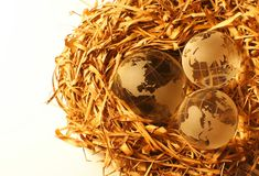 14 globe kryształów Zdjęcia Royalty Free