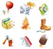 14 kreskówek ikony część setu stylowy target1106_0_ wektor Obrazy Royalty Free