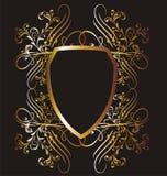 14 ramowy złoto ilustracja wektor