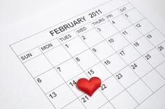 14 van Februari 2011 Stock Foto