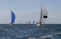 14 wypływa jachting Zdjęcia Royalty Free