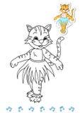 14 zwierzęcia książkowych kolorystyki tancerza tygrysiego Zdjęcia Royalty Free