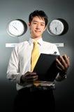 140企业时钟办公室 免版税库存照片