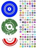 140 elementos del gráfico del círculo stock de ilustración