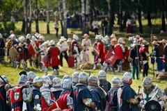 1410年grunwald重建 库存照片