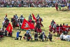 1410 grunwald batalistyczny reenactment Fotografia Royalty Free