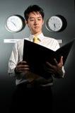 142企业时钟办公室 免版税图库摄影