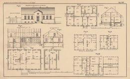 142 anni dell'illustrazione tecnica Fotografia Stock
