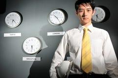 143企业时钟办公室 库存照片