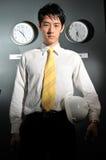 144企业时钟办公室 免版税库存照片