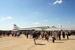 144架喷气机客机超音速tu 免版税图库摄影