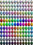 144 High-Res Easter Eggs Stock Photo