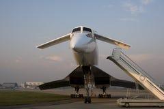 144 jet tu naddźwiękowy samolot. obrazy royalty free