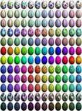 144 uova di Pasqua di Alto-Ricerca Fotografia Stock